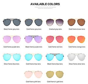 2017 nuevas gafas de sol de alta calidad, gafas generales para hombres y mujeres, gafas de sol retro de personalidad única gafas de sol al por mayor envío gratuito de DHL
