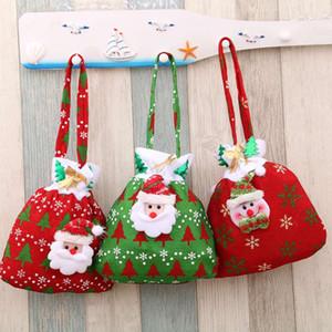 Père Noël bonhomme de neige cerf arbre de Noël Bas de Noël Décorations de Noël Décorations du Festival Porte-sacs-cadeaux 2017