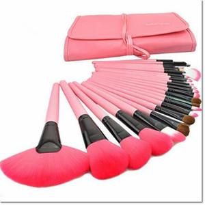 24 adet bir kit Profesyonel Yumuşak güzellik Diş Fırçası Makyaj Fırça Setleri Vakıf Fırçalar Krem Kontur Toz Allık Dudak Kapatıcı Oval Fırçalar