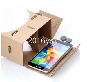 Commercio all'ingrosso 500 pz New DIY Google Cardboard Valencia Qualità 3D Vr Vetri di realtà virtuale senza NFC versione aggiornata con la stampa
