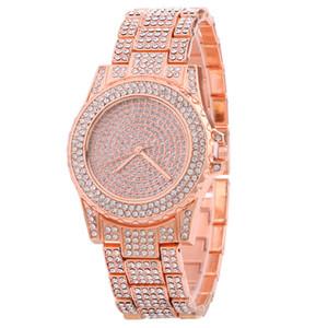 La pleine Shinny Ablaze scintillantes Drees Diamond Watch Fashion Casual Classique Retro Women Watch en gros PriWatches pour cadeau Livraison gratuite