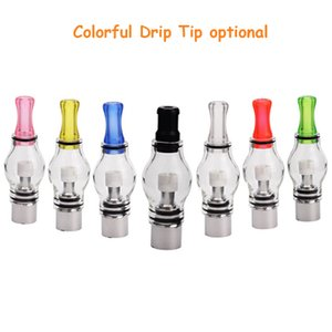 Wax Glass Bulb Atomizer Tank Vaporizer Glass Globe for Wax Dry Herb E Cigarette Glassomizer with colorful tips 510 thread