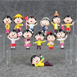 4.5-6.5cm Chibi Maruko Chan sakura Ação momoko PVC Figura Collectable Toy Modelo para o transporte livre crianças dom EMS