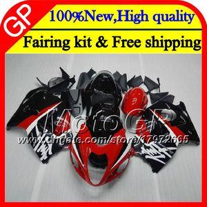 Cuerpo para SUZUKI Hayabusa GSXR1300 96 07 1996 1997 1998 41GP37 GSXR 1300 GSXR-1300 GSX R1300 1999 2000 2001 Rojo negro Carenado motocicleta