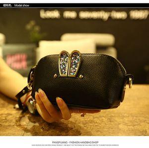 2017 New Super cute rabbit Cosmetic Bag Mini Women Makeup bag Travel Portable Crossbody Bags wallet clutch bags