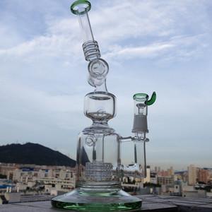 2016 Nuevo llega Recycler de cristal de Mobius Amazing vortex fab Reciclador de vidrio concentrado de plataformas petroleras Tubo de agua de vidrio bong con matriz perc chapoteo