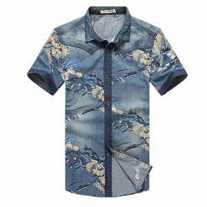 Jeans AFS all'ingrosso di marca originale Camicie da uomo 2016 Manica corta Camicia da uomo di alta qualità in puro cotone 100% taglie forti