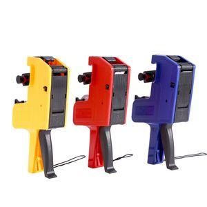Bel design Etichettatrice 8 cifre Prezzo Pistola Etichettatrice in plastica Cartellino del prezzo Contrassegno per etichettatura palmare Giallo / Rosso / Blu