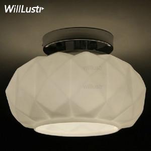 Willlustr Murano nedeniyle Muranodue Leucos lüks tavan lambası beyaz siyah cam elmas yemek odası aydınlatma otel ışık