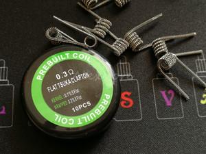 Las bobinas Tsuka Clapton planas prefabricadas 0.3 * 0.8 FLAT + 0.1 * 0.5 FLAT 0.3ohm prefabricadas enrollan los cables de calefacción prefabricados para el tanque de vape rda DHL