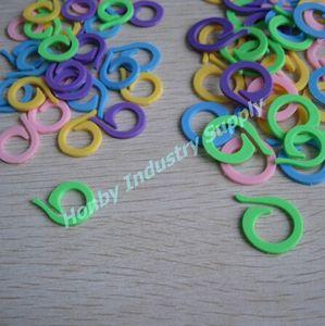confezione da 1000 pezzi Pony piatto 2 Variopinto Split Kniting Stitch anello Marker trasporto libero
