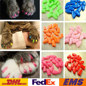 New Pet Nail Sets Colorful Pet Nail Sets Cat Armor Products Dog Nail Sets Send Glue Fashion Novelty Cat Dog Armor Products WX-G09