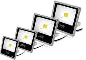 DHL IP65 llevó los reflectores 50W impermeable al aire libre de la lámpara del proyecto reflectores de la iluminación del LED luces de inundación COB viruta 85-265V súper lámpara brillante 666 6
