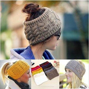 Womens Crochet Headwrap Quente Das Senhoras Outono Inverno Crochet Gorros de Malha Headbands Acessórios Para o Cabelo Cabeça Headwear Wraps Turbante Bandanas