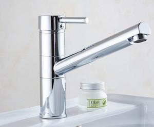 Tradizionale estraibile / estraibile Deck Mounted Spruzzo estraibile con valvola in ceramica Single Handle One Hole per Chrome, doppio rubinetto esterno Kitchen Faucet