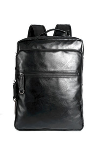2017 New Laptop Bags Men PU Casual Backpack Shoulder bags Black Travel Messenger Bags 33*42*12cm