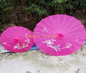 50 pçs / lote frete grátis atacado festa de casamento flores pintados à mão pano de seda colorido parasol guarda-chuva artesanato chinês