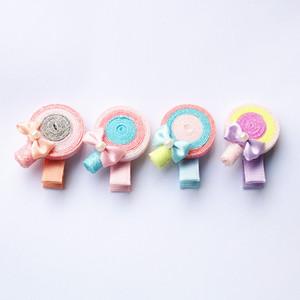 Nuovo scintillio del Pan di Zucchero Forma Clip Carino Lollipop forcine Blilnk rotonda bambini Barrett Hotsale capelli delle ragazze bei colori Barrettes