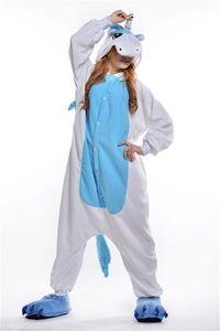 2018 Ücretsiz Kargo Unisex Yetişkin Unicorn Onesie Hayvan Pijama One Piece Cosplay Kostümleri Kigurumi Pijama Kadın ve Erkek Pijama Gecelik