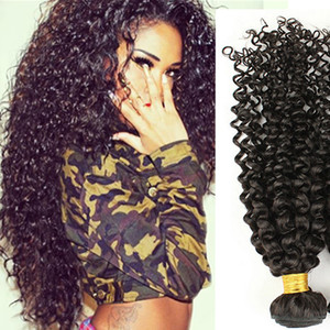 브라질 변태 곱슬 머리 익스텐션 최고 품질의 머리카락 꽉 곱슬 곱슬 페루 인도 말레이시아 버진 머리 3pcs 많이 부드러운 무료 배송