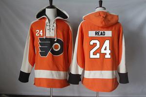 Flyers de Philadelphie Jersey 24 Matt lu 27 Boyd Gordon 28 Claude Giroux 32 Mark Streit 35 Steve Mason 39 Mark Alt Hommes Sweats à capuche
