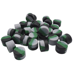 Contenant de cire antiadhésif en silicone, contenant de concentré de silicone luisant pour pile 3ml avec forme ronde 300pcs / lot