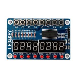 Ключевой дисплей для AVR Arduino новый 8-битный цифровой светодиодный трубки 8-битный цифровой модуль TM1638