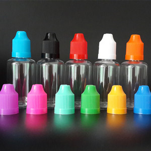 100pcs 30ml E líquido Dropper Bottle PET Limpar Vape E suco de garrafa vazia garrafas de plástico com longas Ponta Delgada e Cap Childproof