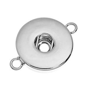 12MM 18MM Zencefil çekin Charms için Yuvarlak Gümüş Snap Düğme Konnektörler Taban DIY Düğme çekin Takı
