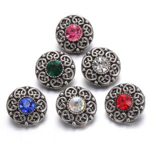 10pcs / lot Qualitäts-Rhinestone-Art-Metall 12mm Verschluss-Schmucksachen passendes Mini 12mm Schnelles Armbandarmbänder