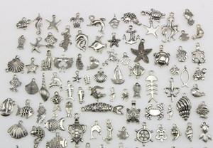 Mezclar 100 collar colgante de estilo DIY del encanto de plata tibetano resultados de la joyería accesorio de la pulsera del collar de resultados de la joyería Componentes