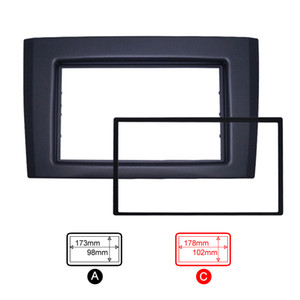 Double DIN 2DIN Car Radio Fascia For VOLVO XC90 (2002~2014) Radio DVD Stereo Dash Trim Panel Frame Installation Kit #5254