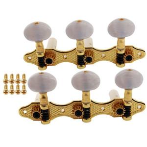 G - 301 ballad accessoires de guitare blanc bouton sanlian tuning Blanc doré classique guitare folk chaîne bascule