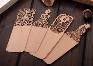 Оптовая много красивые старинные тонкие деревянные закладки творческий подарок сувениры Kawaii китайский стиль закладки для книги милые девушки подарок