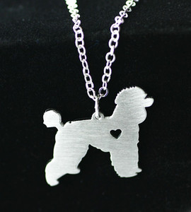 2016 fashion simple necklace foreign trade hot dogs love poodle cartoon animal series stainless steel Animal necklace pendant jewelry