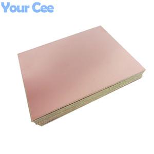 Wholesale-10pcs One Single Side Glass Fiber PCB Copper Clad Plate Laminate Circuit Board 10X15cm 100mm*150mm*1.5mm