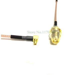 10 ADET RF Koaksiyel WIFI Uzatma Kablosu SMA Dişi Açı MMCX Erkek için Pigtail RG178 Kablo Konektörü (0.1 m)