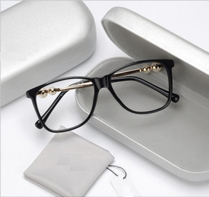 Pérola grande-quadro espelho plano temperamental e o estilo feminino do lado das mulheres artísticas miopia armação de óculos