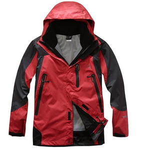 2016 caliente / invierno de los hombres chaqueta deportiva al aire libre marca impermeable a prueba de viento chaqueta cálida transpirable montañismo traje de esquí chaqueta de camping