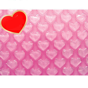 Commercio all'ingrosso-0.3 * 60m Nuovo pacchetto di ammortizzazione a forma di cuore pacchetto bolla roll roll gonfiabile imballaggio imballaggio involucro boram della schiuma di protezione di spedizione rotoli di schiuma