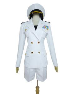 LOL Ahri White Girls Skirt Set Cosplay Costume J001