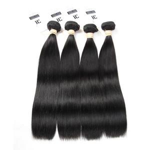 HC Saç Ürünleri Malezya Bakire Saç Düz İnsan Saç Dokuma Doğal Renk 4 ADET / GRUP Işlenmemiş Düz Bakire Saç Ücretsiz Kargo