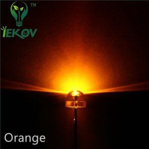 Hohe Qualität 10000pcs / lot 5mm Strohhut Orange / gelbe LED Weitwinkel-Glühlampe LED-Lampe Urtal helle 5MM Emitting Diodes Großhandel