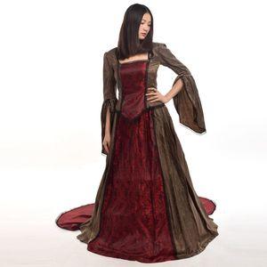 Mulheres renascentistas vitorianos vestidos 3 cores vestido de baile de casamento marie antoinette queen traje retro cosplay de alta qualidade