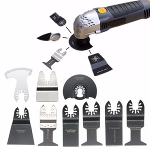12Pcs Set Mix Oscillating Tool Saw Blades Accessories For Metal Wood Softer Plastics Drywall Fiberglass Stone Ceramic Tile etc