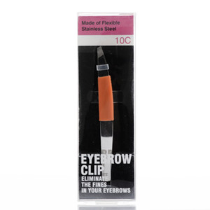 Pince à fileter biseau en acier inoxydable sur les sourcils Type de joint en caoutchouc type pince à épiler à sourcils Outils de maquillage