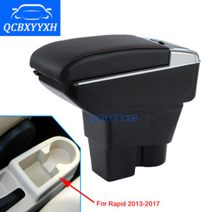 For Skoda Rapid 2013-2017 Armrest Box Central Store Content Box Cup Holder Ashtray Interior Car-styling Decoration Accessory Part