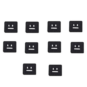 10PCS black socket patches for clothing iron fashion embroidery patch for clothes applique sewing accessories badge on clothes iron on patch