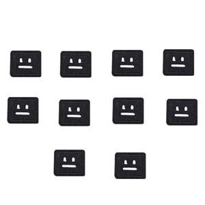 10 PCS black socket patches para roupas de ferro moda remendo bordado para roupas applique acessórios de costura crachá em roupas de ferro no remendo