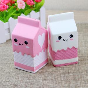 Высокое качество Cute Jumbo Box Squishy молока мультфильм Slow Восходящая игрушки телефон ремни Подвесные Сладкие Сливки душистые хлеба Детские игрушки Fun подарок